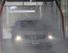 car coming out of car wash